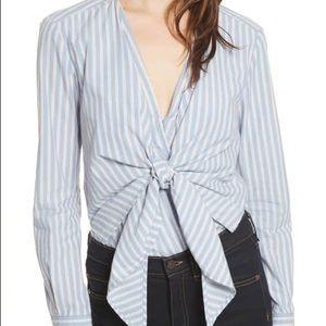 Veronica Beard Diana Stripe Bodysuit